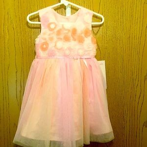 NWT Jona Michelle 2T Floral Satin/Tulle Dress